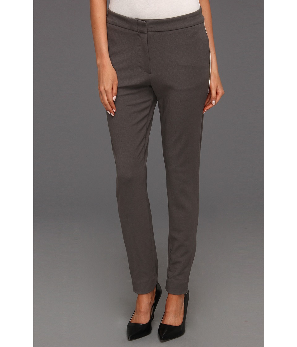 Halston Heritage - Skinny Pant with Contrast Tuxedo Stripe (Dark Flint) Women's Casual Pants