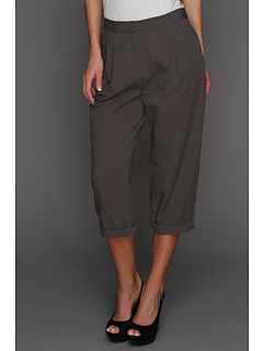 SALE! $136.99 - Save $203 on Halston Heritage Relaxed Fit Cropped Pant (Lead) Apparel - 59.71% OFF $340.00