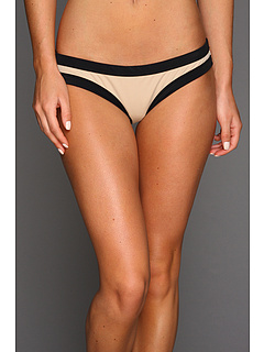 SALE! $24.99 - Save $67 on Rachel Pally Limon Color Block Bikini Bottom (Black Bamboo) Apparel - 72.84% OFF $92.00