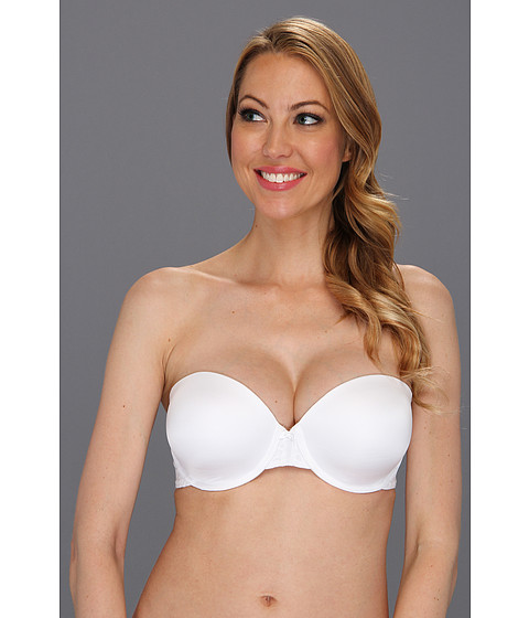 DKNY Intimates - Signature Lace Perfect Lift Strapless Bra 454195 (White) Women's Bra