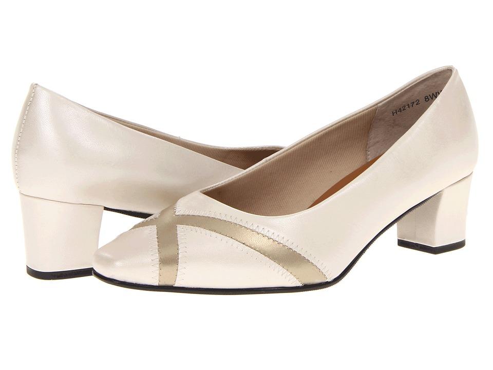 Rose Petals - Bing (Bone Pearl/Platino Kid) Women's Slip on Shoes
