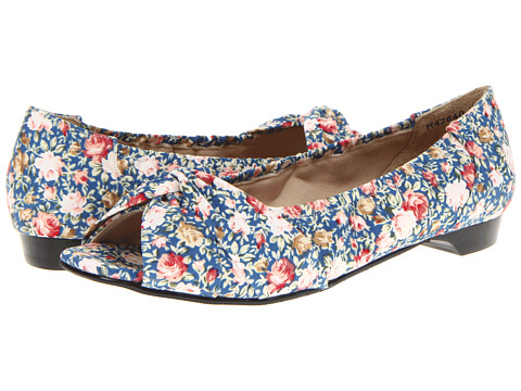 Rose Petals - Hardrock-2 (Blue Print Floral) Women's Flat Shoes