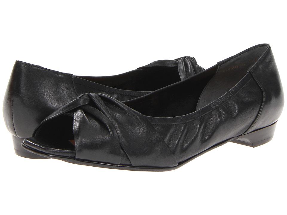Rose Petals - Hardrock-2 (Black Softy Calf) Women's Flat Shoes