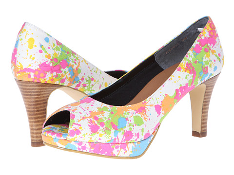 Rose Petals - Pony-3 (Bright Multi Linen) High Heels
