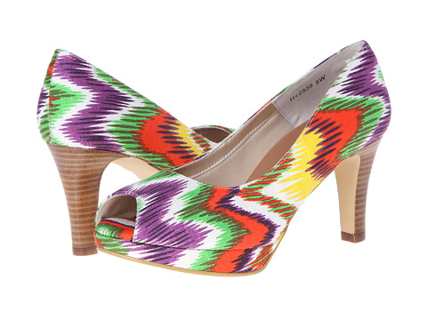 Rose Petals - Pony-3 (Multi Aztec Print Fabric) High Heels