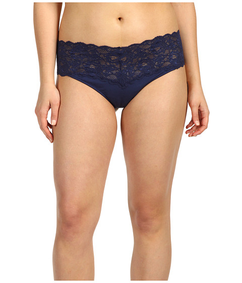 Cosabella - Extended Size Never Say Never Lovely Thong (Navy Blue) Women