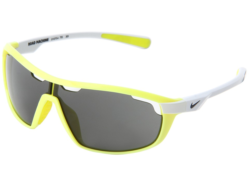 Nike - Road Machine (Electric Yellow/White) Athletic Performance Sport Sunglasses