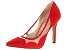 Red suede shoes. Pour La Victoire - Chantel (Red Suede Mesh) - Footwear