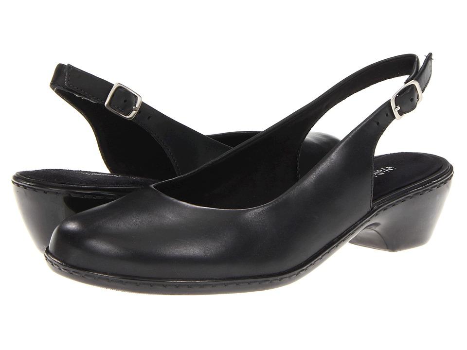 Walking Cradles - Crystal (Black Cashmere Leather) Women's Shoes