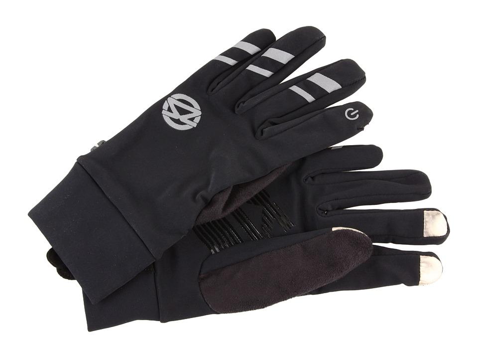 Zensah - Smart Running Gloves (Black) Extreme Cold Weather Gloves