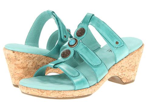 Walking Cradles - Delight (Turquise Soft Atanado Leather) Women's Slide Shoes
