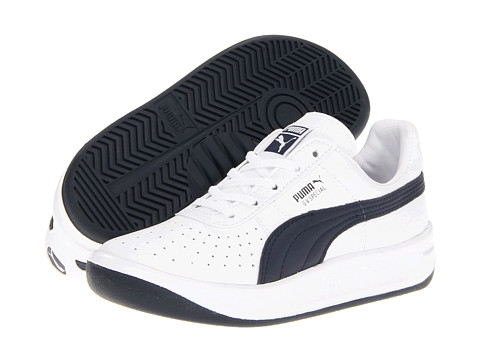 Puma Kids - GV Special Jr (Little Kid/Big Kid) (White/New Navy) Kids Shoes