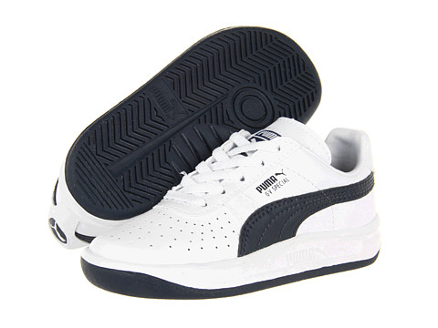 Puma Kids - GV Special (Toddler/Little Kid) (White/New Navy) Kids Shoes