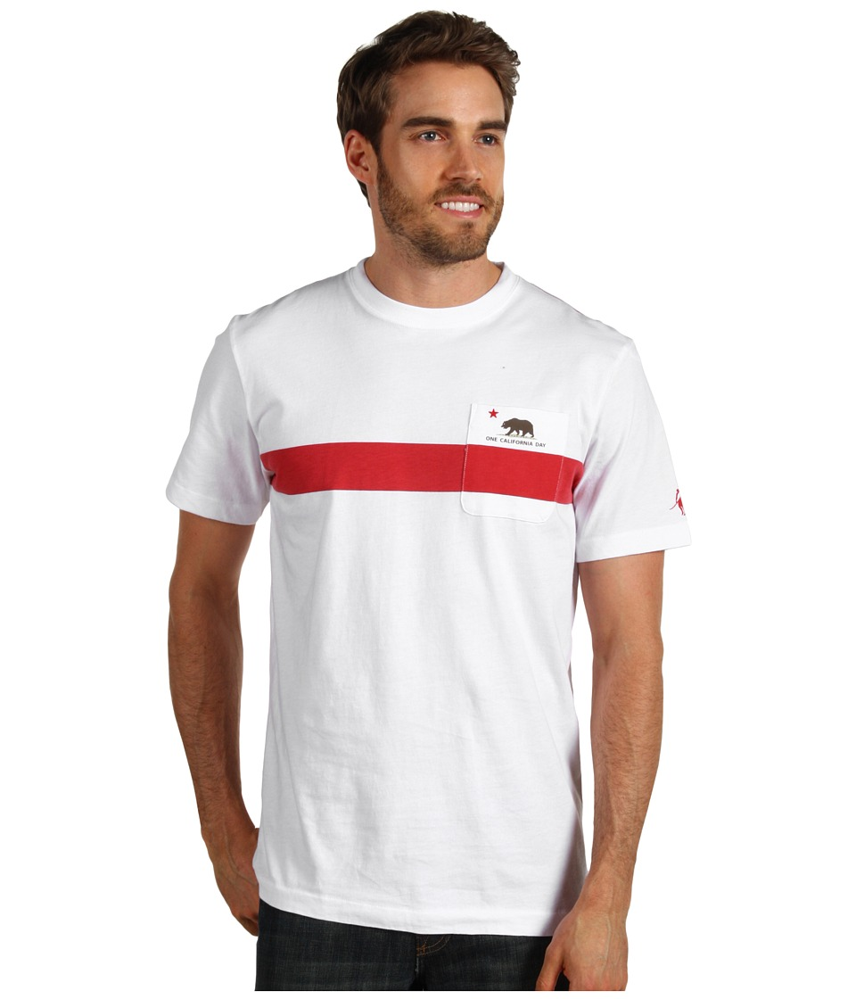 Toes on the Nose - One California Day Cali Stripe Tee (White) Men