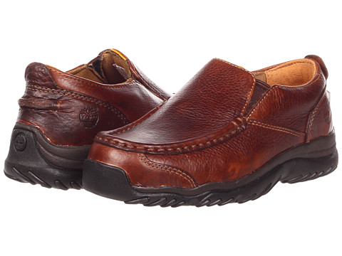 Timberland Kids - Carlsbad Slip-On Core (Little Kid) (Brown Smooth Leather) Boys Shoes