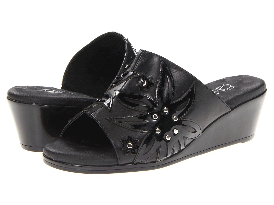 Walking Cradles - Hottie (Black Leather/Patent) Women