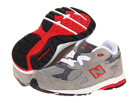 New Balance Kids - KJ990V3 (Infant/Toddler) (Grey/Red) Boys Shoes