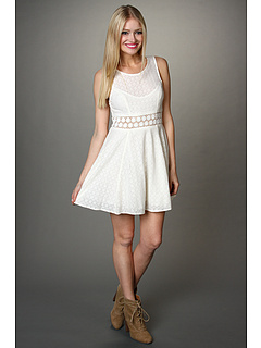SALE! $44.8 - Save $83 on Free People Daisy Waist Dress (Ivory) Apparel - 65.00% OFF $128.00