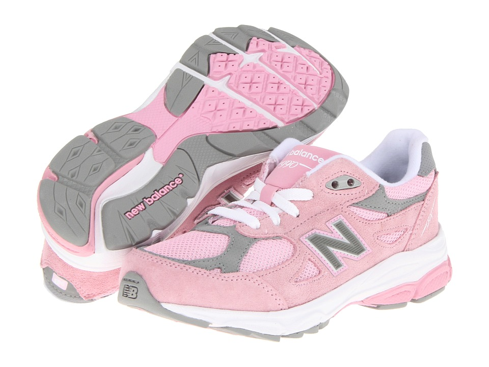 New Balance Kids - KJ990V3 (Little Kid) (Pink/Grey) Girls Shoes
