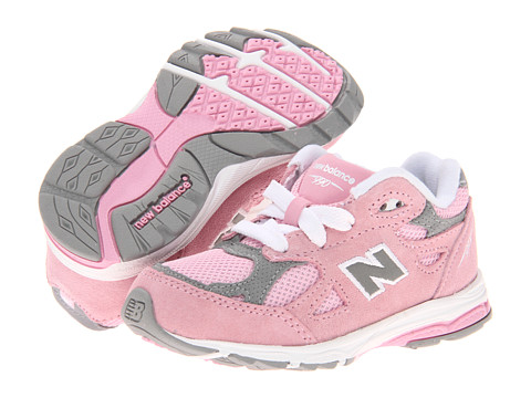 New Balance Kids - KJ990V3 (Infant/Toddler) (Pink/Grey) Girls Shoes