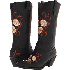 Roper Vintage Fashion Floral Boot (Black) Footwear