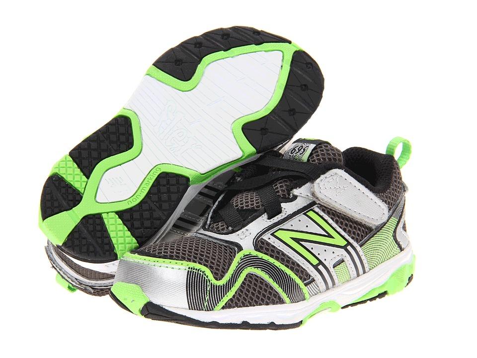 New Balance Kids - KV695 (Infant/Toddler) (Silver/Green) Boys Shoes