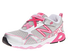 New Balance Kids KV695 (Little Kid/Big Kid) (Silver/Pink)