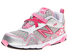 New Balance Kids KV695 (Infant/Toddler) (Silver/Pink)