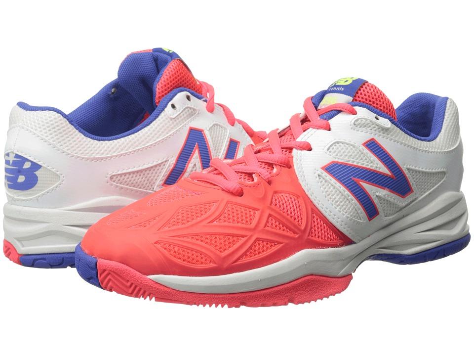 New Balance Kids - KC996 (Little Kid/Big Kid) (White/Pink) Girls Shoes