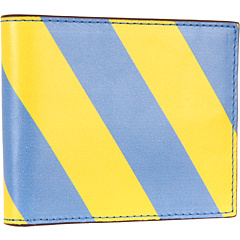 SALE! $74.99 - Save $90 on Jack Spade Repp Stripe Printed Leather Bill Holder (Blue Yellow) Bags and Luggage - 54.55% OFF $165.00