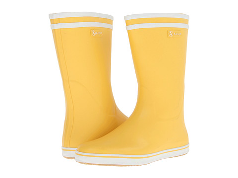 AIGLE - Malouine BT (Yellow/White) Women's Rain Boots