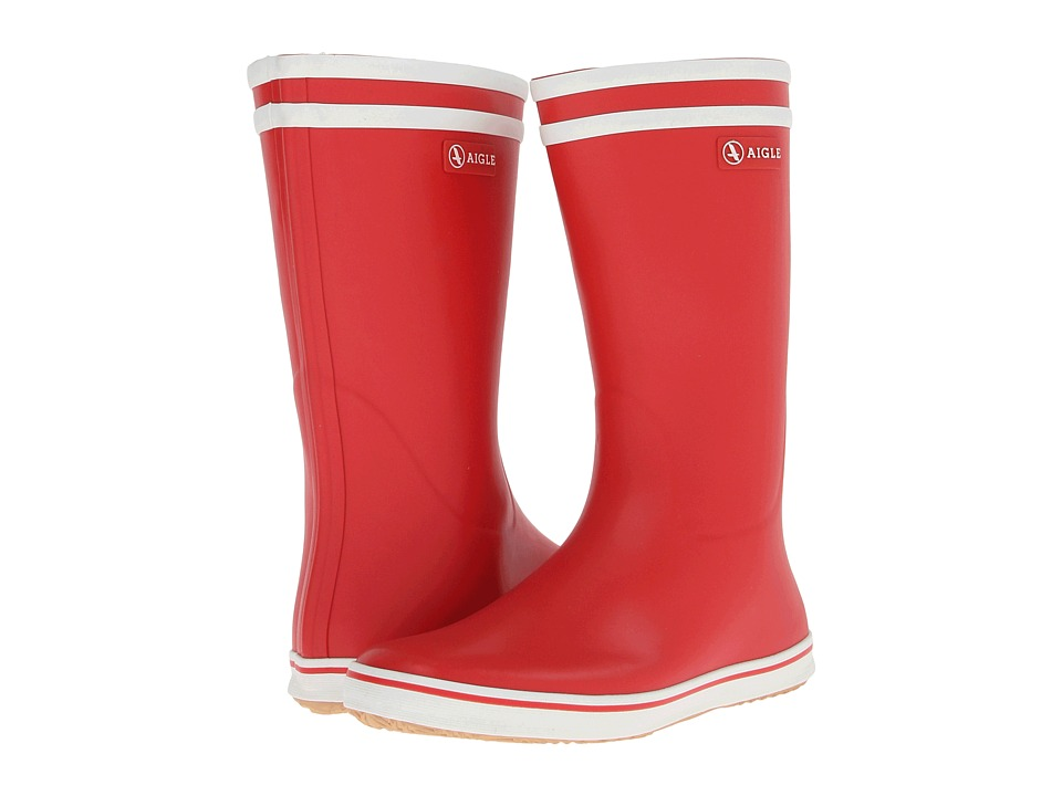AIGLE - Malouine BT (Red/White) Women's Rain Boots