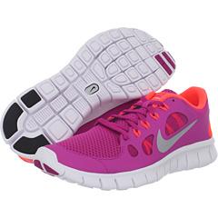 Nike Kids Free Run 5.0 (Big Kid) (Fusion Pink/Total Crimson/Metallic Silver) Girls Shoes