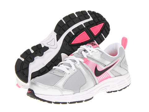 Nike Kids - Dart 10 (Little Kid/Big Kid) (Metallic Silver/White/Digital Pink/Black) Girls Shoes