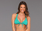 Roxy - Naturally Beautiful Rio Halter Top (Dynasty Green) - Apparel