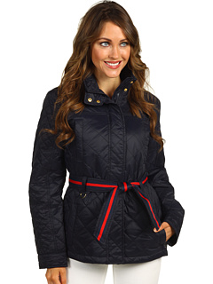 SALE! $74.99 - Save $50 on Tommy Hilfiger Kennedy Jacket w Flag Belt (Navy) Apparel - 40.01% OFF $125.00