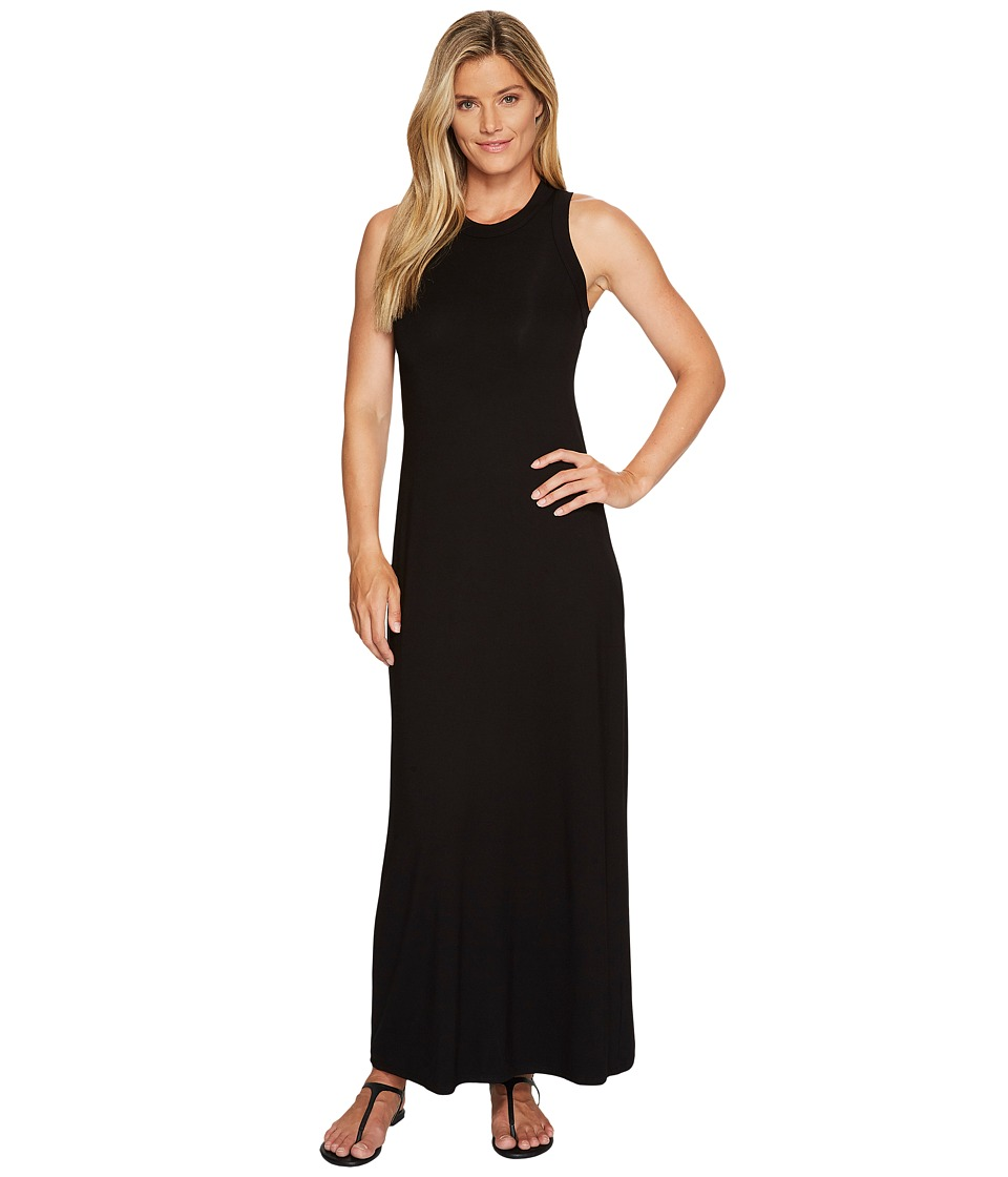 Karen Kane High Neck Maxi Dress (Black) Women