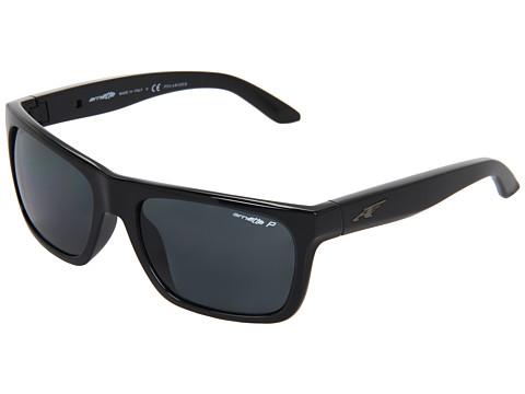 Arnette - Dropout Polarized (Gloss Black w/ Grey Polarized) Sport Sunglasses