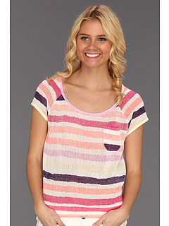 SALE! $16.99 - Save $23 on Roxy Without You Top (Orange Soda Stripe) Apparel - 56.99% OFF $39.50