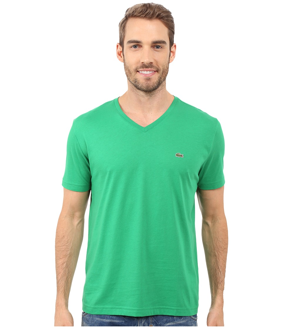 Lacoste - S/S Pima Jersey V-Neck T-Shirt (Chlorophyll Green) Men's Short Sleeve Pullover