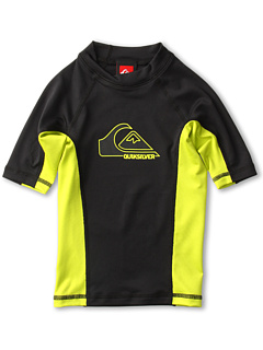 SALE! $16.99 - Save $10 on Quiksilver Kids DOB S S Rashguard (Little Kids Big Kids) (Black Green) Apparel - 36.96% OFF $26.95