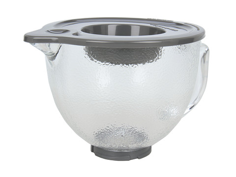 KitchenAid - K5GBH 5-Quart Tilt-Head Hammered Glass Bowl with Lidring spout, lid (Clear) Appliances Cookware