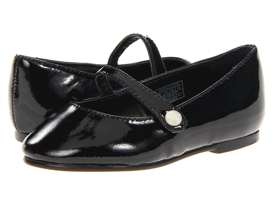 Polo Ralph Lauren Kids - Alyssa MJ (Toddler) (Black Patent) Girls Shoes