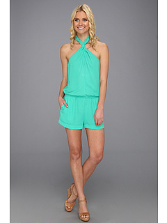 SALE! $178 - Save $0 on BCBGMAXAZRIA Casli Crossover Halter Jumpsuit (Emerald) Apparel - 0.00% OFF $178.00