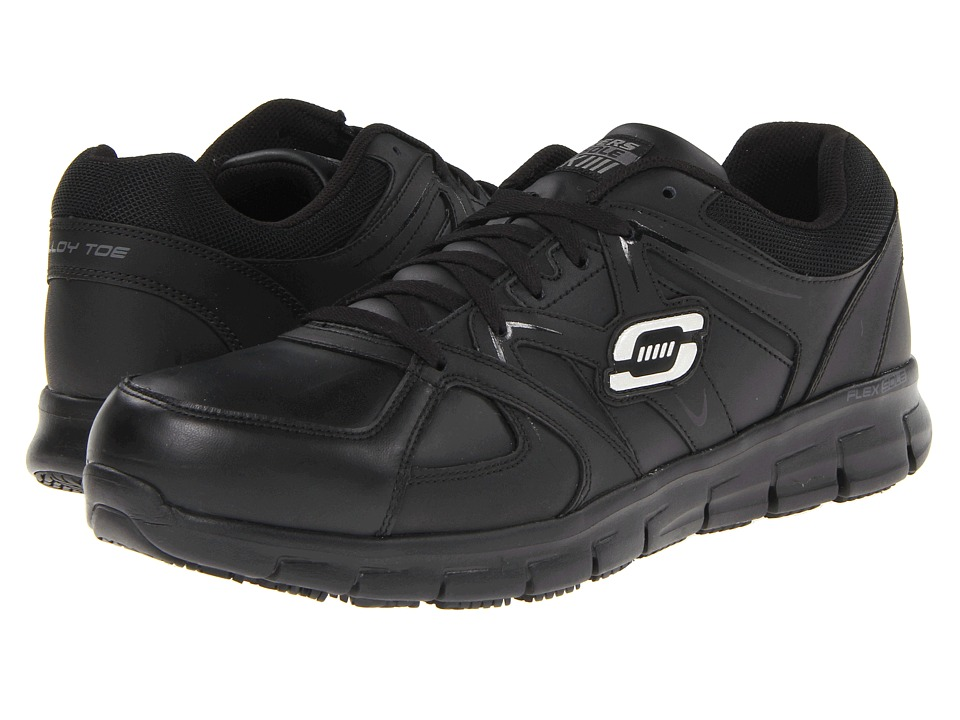 SKECHERS Work - Sure Gripper (Black) Men's Industrial Shoes