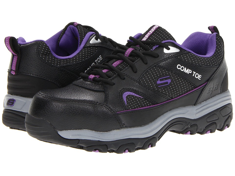 SKECHERS Work - Tottle (Black) Women's Shoes