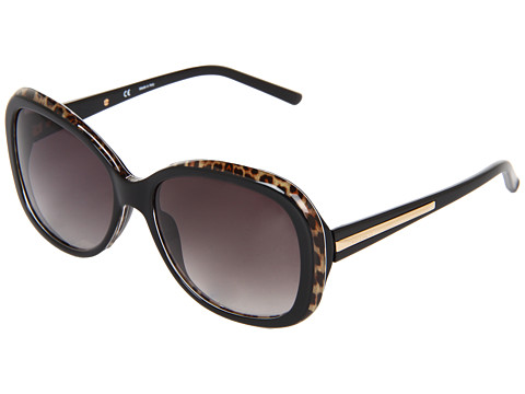 Givenchy - SGV 767 (Black Leopard/Rose Gold/Gradient Grey) Fashion Sunglasses