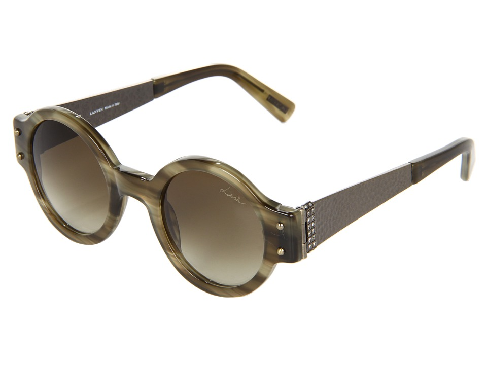 Lanvin - SLN512 (Olive Green/Beige/Green Gradient) Fashion Sunglasses