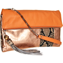 SALE! $149.99 - Save $100 on Rafe New York Anh Fold over Clutch (Peach Copper) Bags and Luggage - 40.00% OFF $250.00