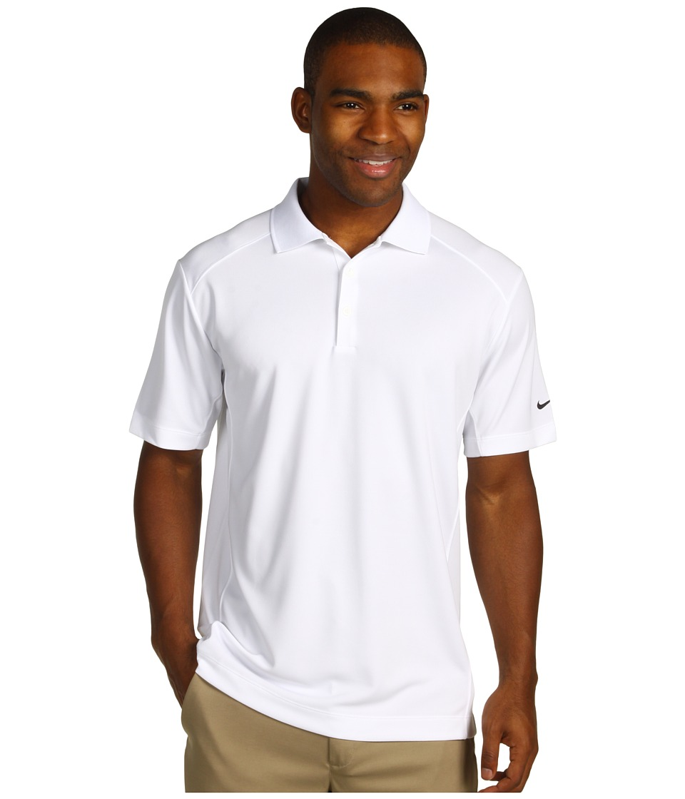 Nike Golf - Nike Victory Polo (White/Black) Men's Short Sleeve Pullover